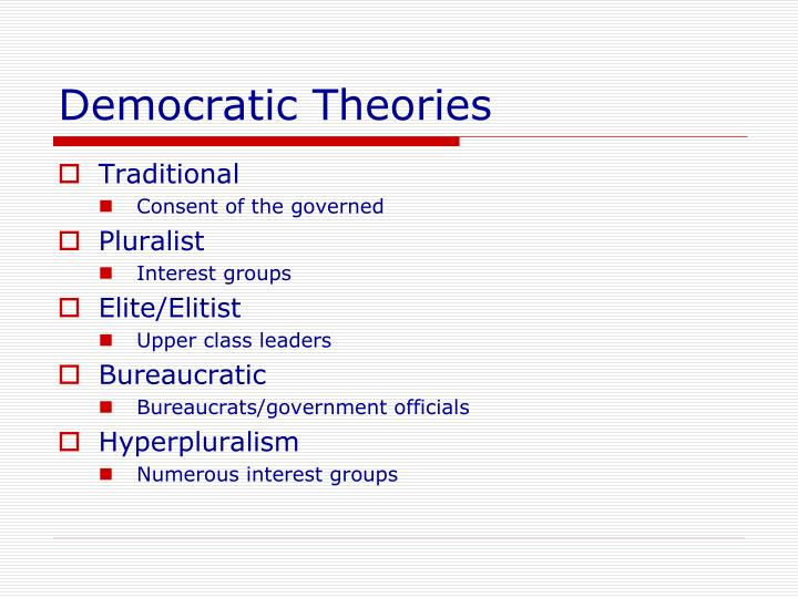 Democratic Theories