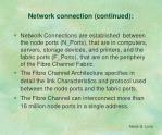network connection continued