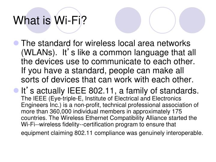 What is wi fi