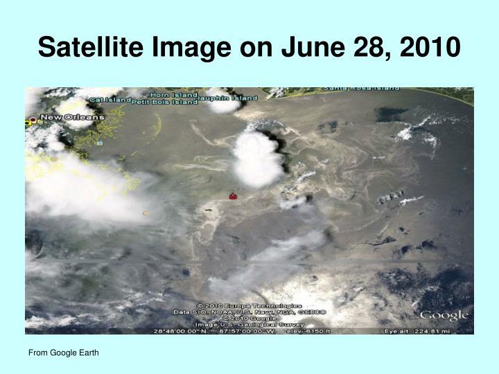 Satellite Image on June 28, 2010