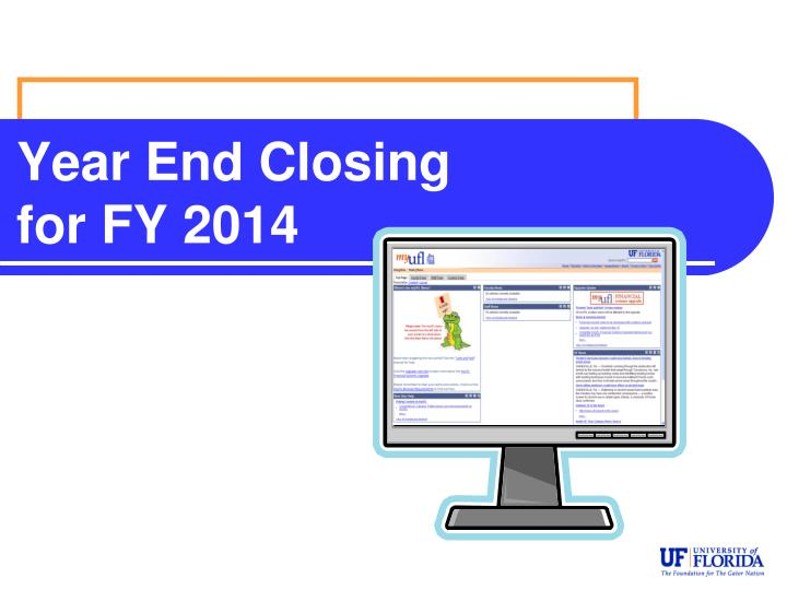 year end closing for fy 2014 n.