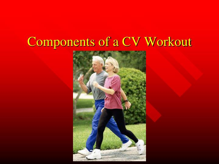 components of a cv workout n.