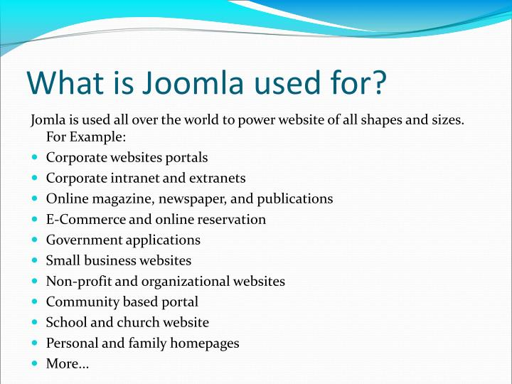 What is Joomla used for?