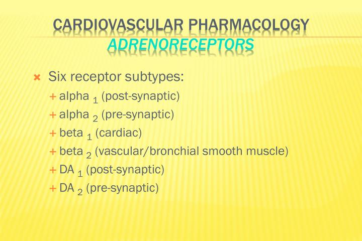 Six receptor subtypes: