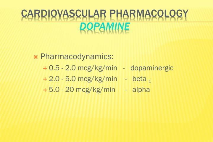 Pharmacodynamics:
