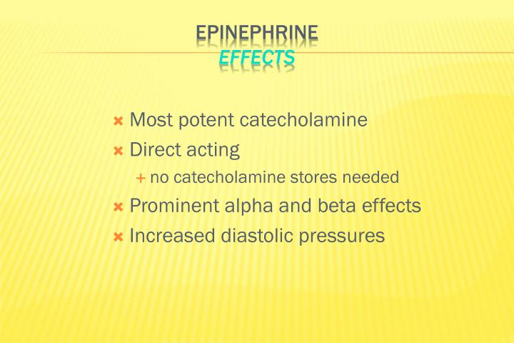 Most potent catecholamine