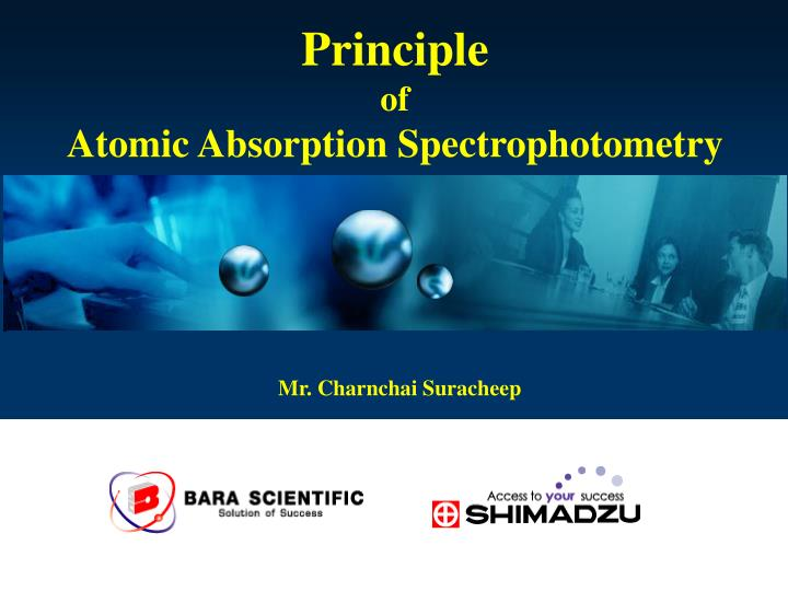 principle of atomic absorption spectrophotometry n.