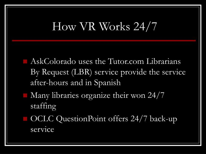 How VR Works 24/7