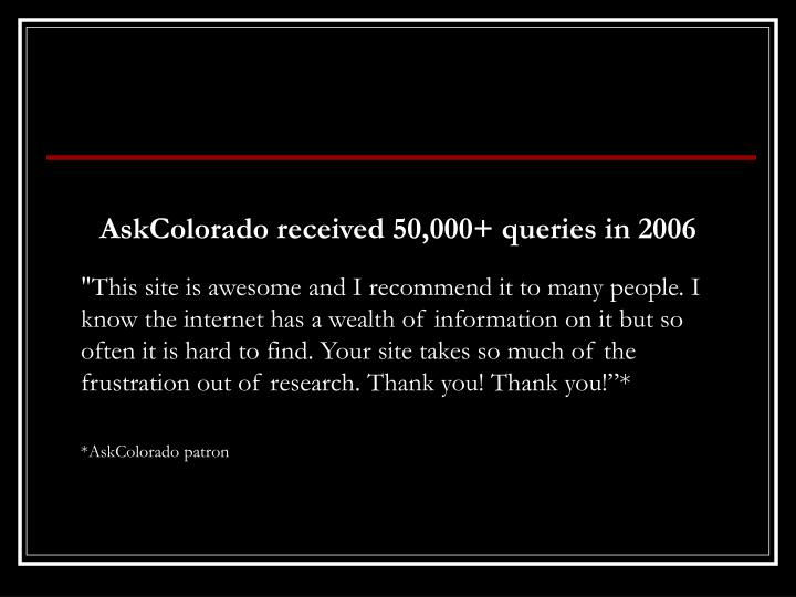 """""""This site is awesome and I recommend it to many people. I know the internet has a wealth of information on it but so often it is hard to find. Your site takes so much of the frustration out of research. Thank you! Thank you!""""*"""