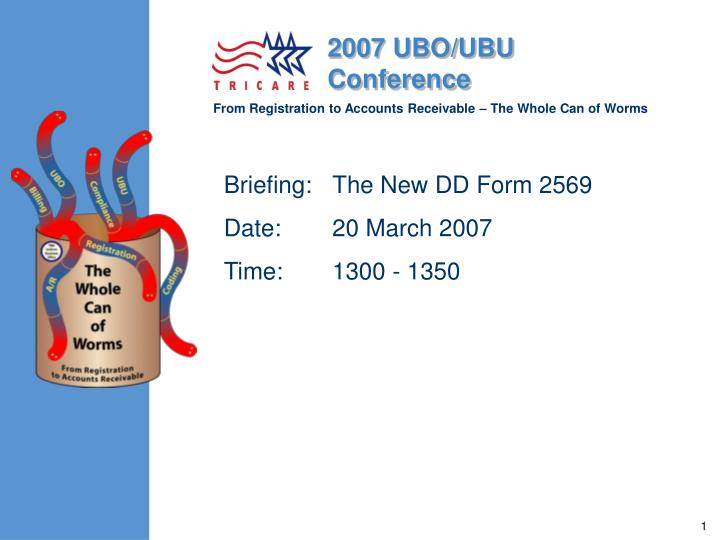briefing the new dd form 2569 date 20 march 2007 time 1300 1350