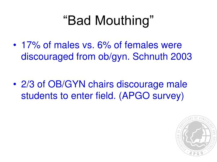 """Bad Mouthing"""