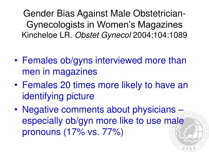 Gender Bias Against Male Obstetrician-Gynecologists in Women's Magazines