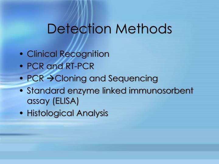 Detection Methods