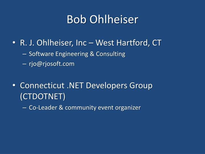 Bob ohlheiser