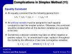 complications in simplex method 11