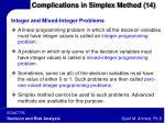 complications in simplex method 14