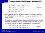complications in simplex method 7