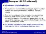 examples of lp problems 3