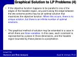 graphical solution to lp problems 4