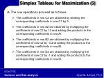 simplex tableau for maximization 5