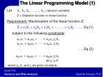 the linear programming model 1