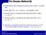 the simplex method 9