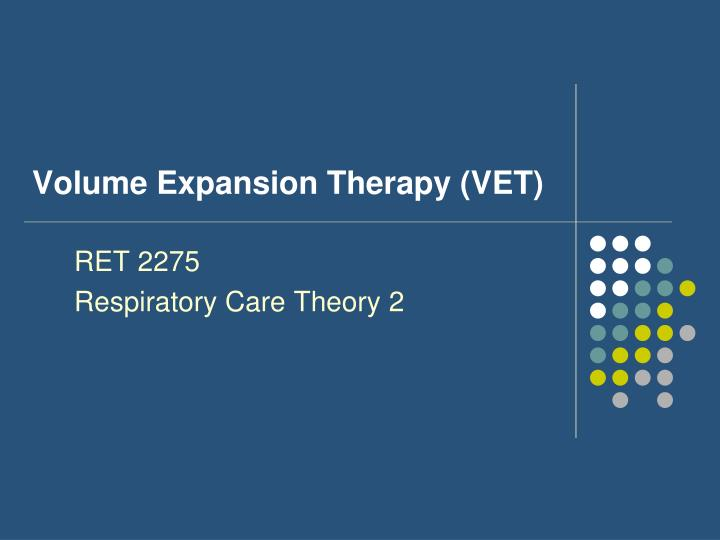 volume expansion therapy vet n.