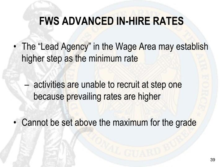 FWS ADVANCED IN-HIRE RATES