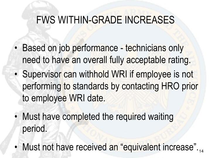 FWS WITHIN-GRADE INCREASES