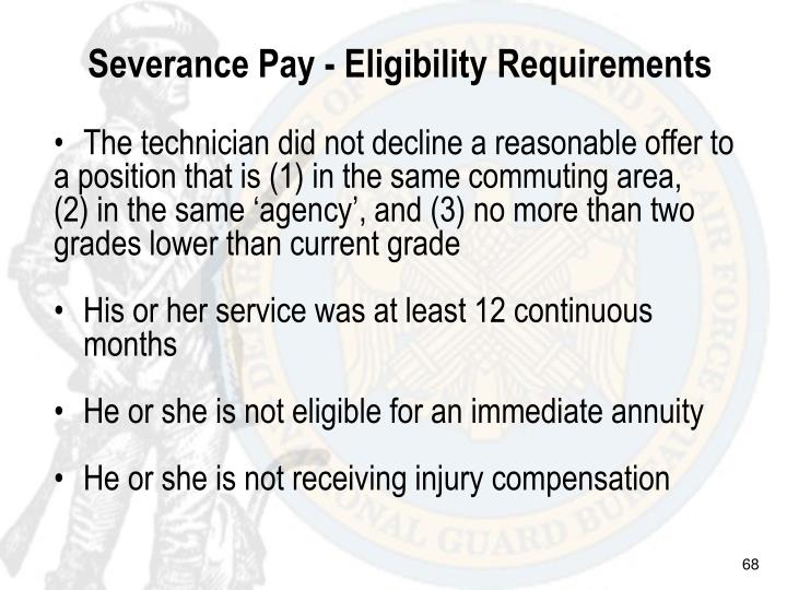 Severance Pay - Eligibility Requirements