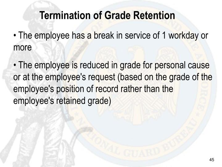 Termination of Grade Retention