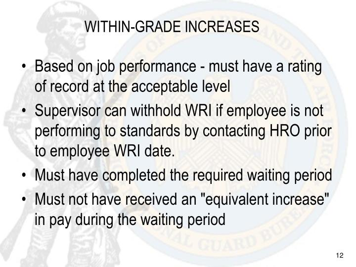 WITHIN-GRADE INCREASES