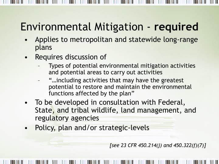 Environmental Mitigation -