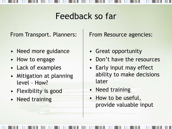 From Transport. Planners:
