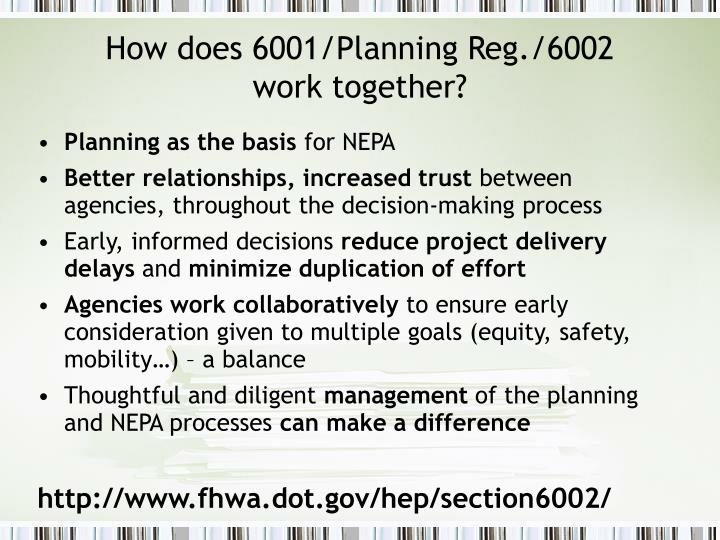 How does 6001/Planning Reg./6002