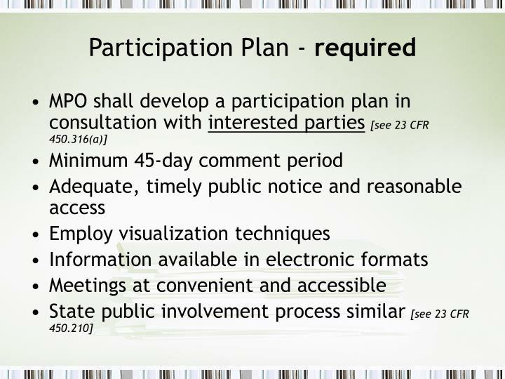 Participation Plan -