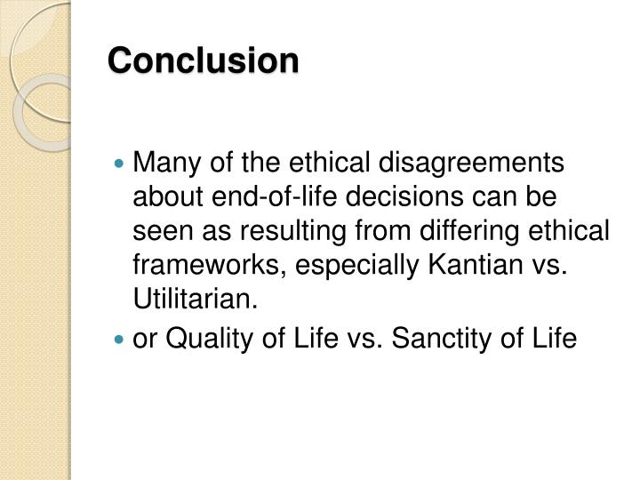 kantian ethics regarding assisted suicide Aristotle on voluntary euthanasia/assisted suicide their life via physician assisted suicide through the base questions of medical ethics.