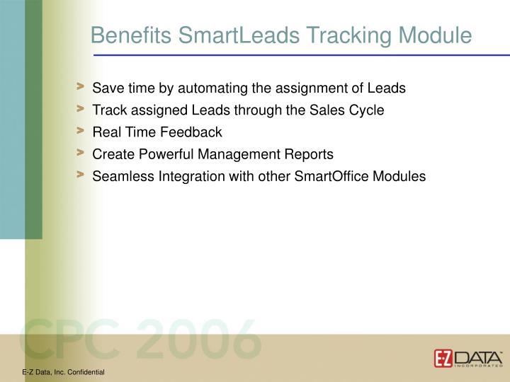 Benefits SmartLeads Tracking Module