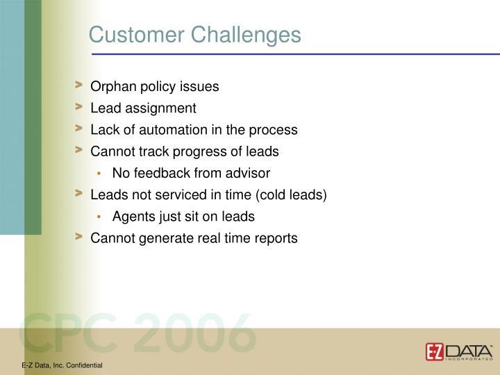 Customer Challenges