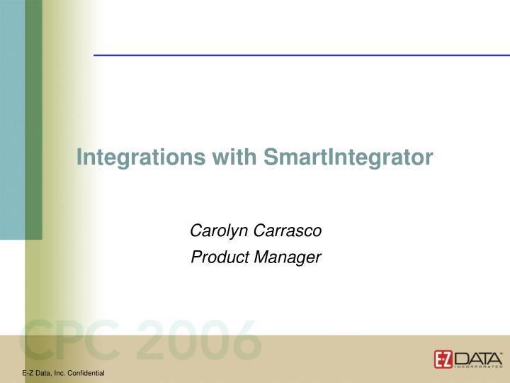 Integrations with SmartIntegrator
