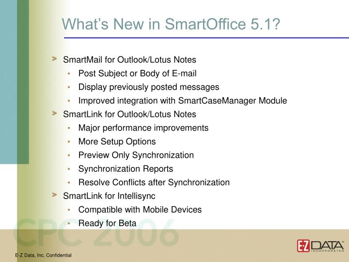 What's New in SmartOffice 5.1?