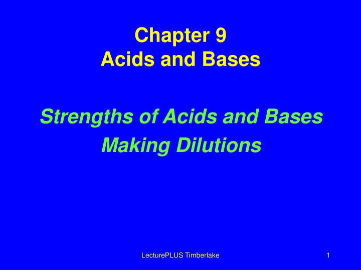 chapter 9 acids and bases n.