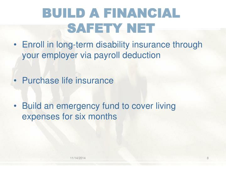 BUILD A FINANCIAL SAFETY NET