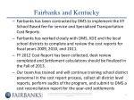 fairbanks and kentucky