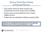 interim ticket rate setting payment process