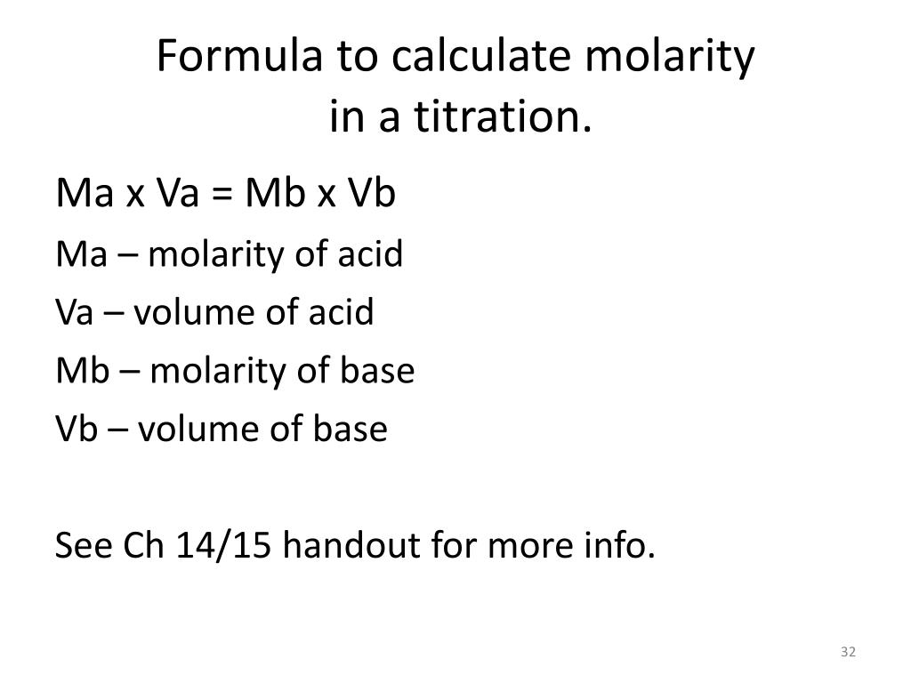 PPT - Chapter 15 Acid-Base Titration and pH PowerPoint Presentation