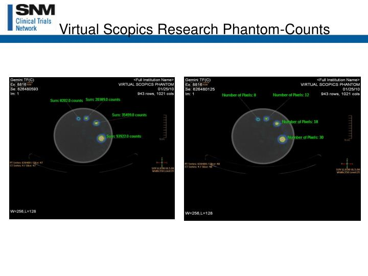 Virtual Scopics Research Phantom-Counts