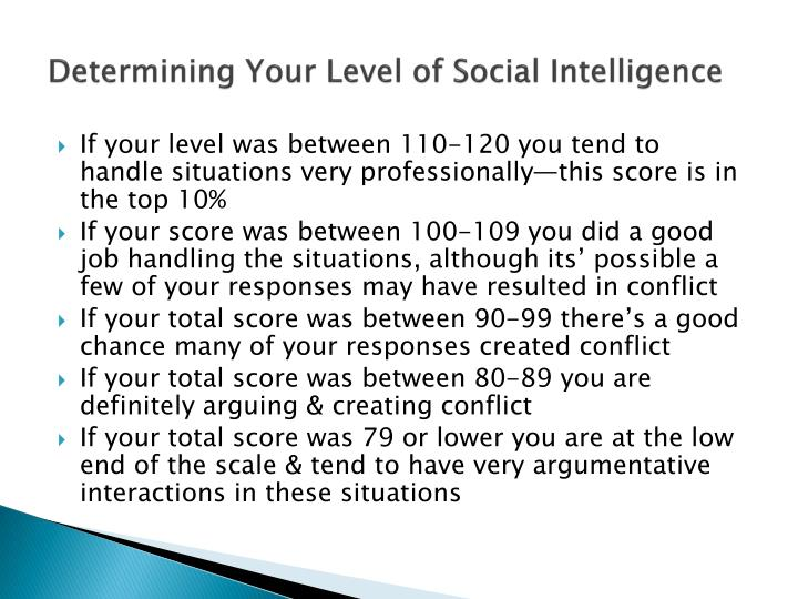 Determining Your Level of Social
