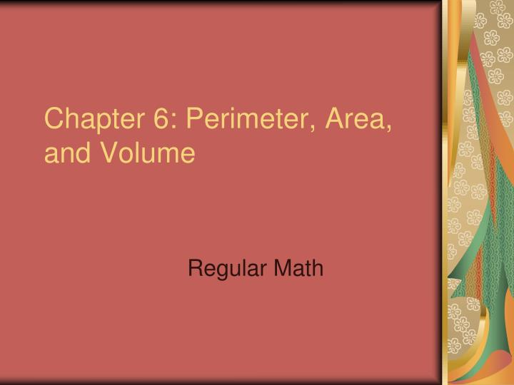 chapter 6 perimeter area and volume n.