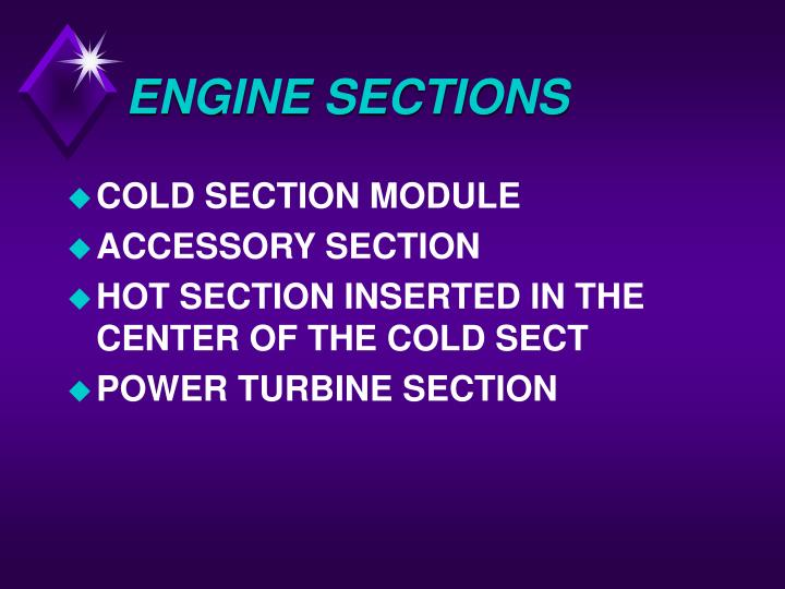 ENGINE SECTIONS